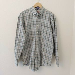 Alan Flusser Mens Large Button Down Cotton Shirt